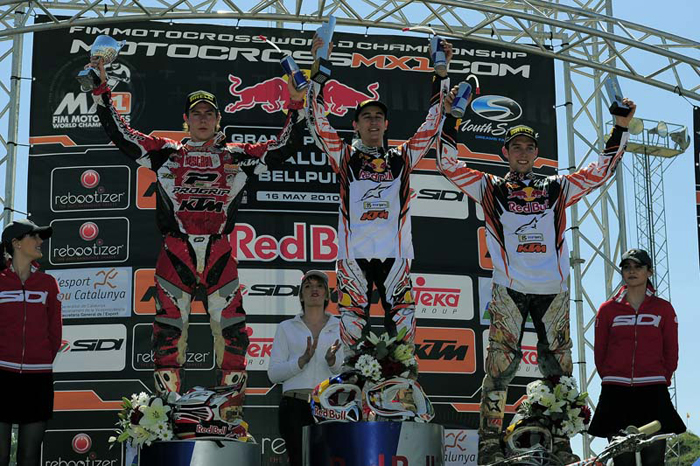 Podium MX2 Grand Prix Spanje